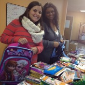 Our Jamaica Plain directors Joana Araujo (JP Centre) and Jannia Brunson-Perez (Revere Street) help packing up supplies